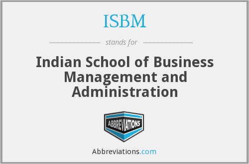 What does ISBM stand for?
