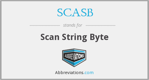 What does SCASB stand for?