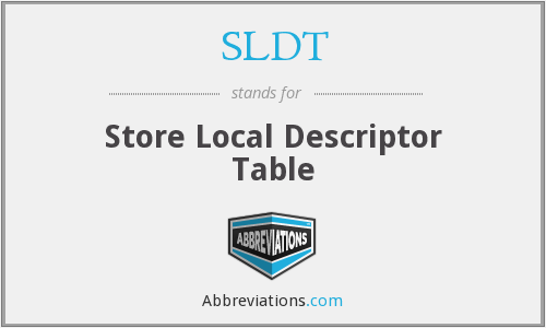 What does SLDT stand for?