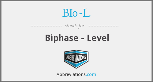 What does BI0-L stand for?