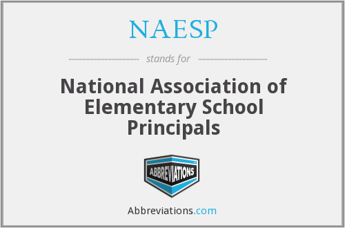 What does NAESP stand for?