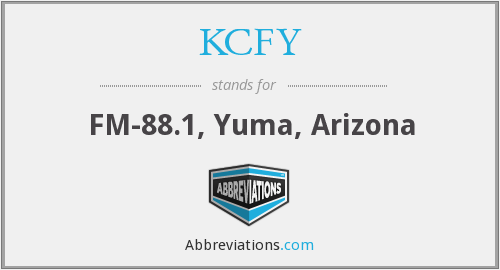What does KCFY stand for?