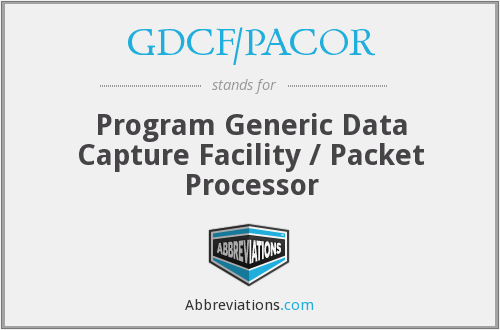 What does GDCF/PACOR stand for?