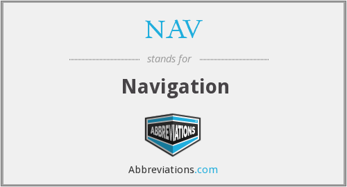 What does NAV stand for?