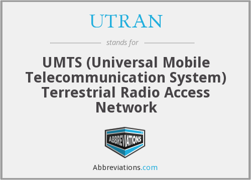 What does UTRAN stand for?