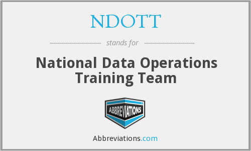 What does NDOTT stand for?