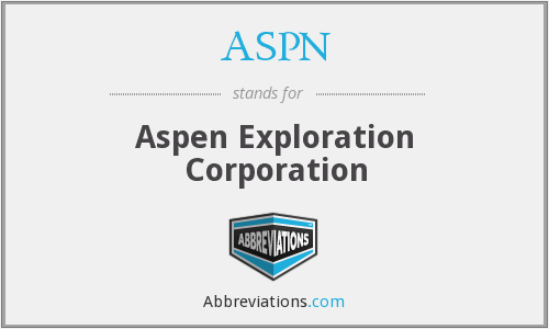 What does ASPN stand for?