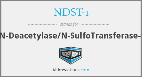 What does NDST-1 stand for?