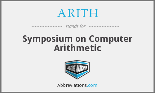 What does ARITH stand for?