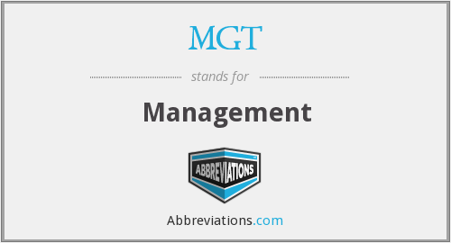 What does MGT stand for?