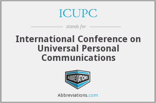 What does ICUPC stand for?