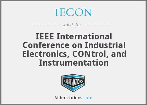 What does IECON stand for?