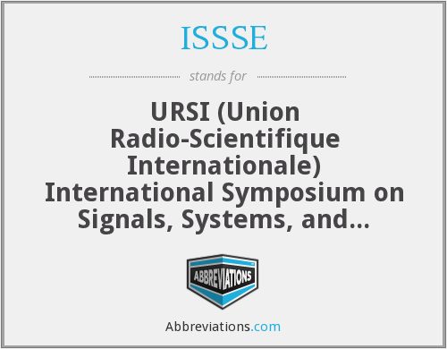 What does ISSSE stand for?