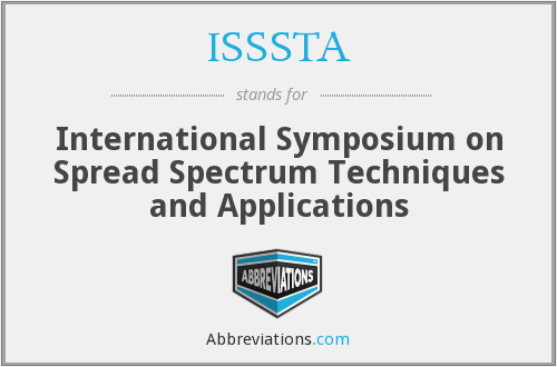 What does ISSSTA stand for?