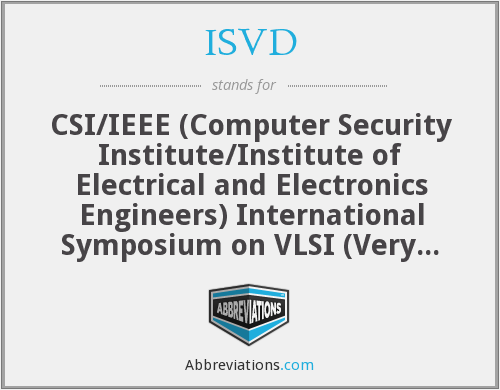 What does ISVD stand for?