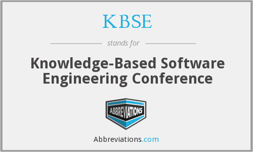 What does KBSE stand for?