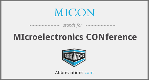 What does MICON stand for?