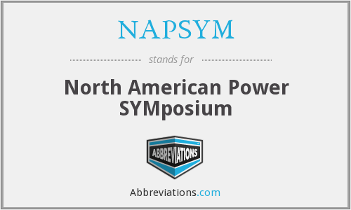What does NAPSYM stand for?