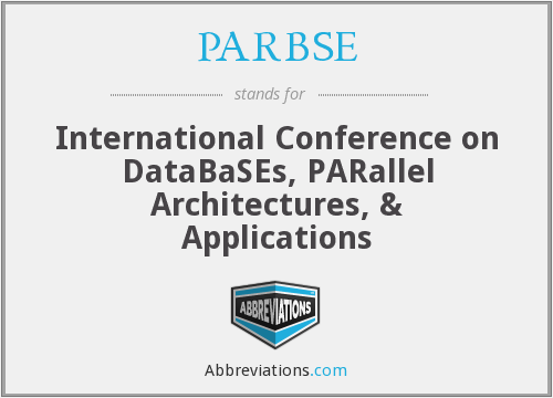 What does PARBSE stand for?