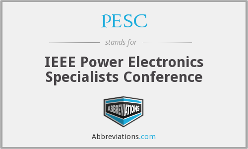 What does PESC stand for?