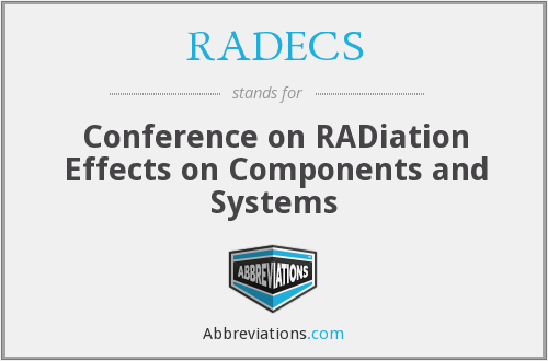What does RADECS stand for?
