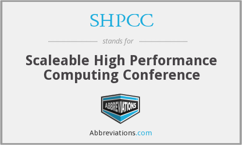 What does SHPCC stand for?