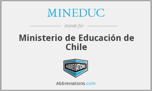 What does MINEDUC stand for?