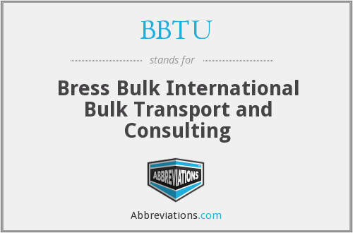 What does BBTU stand for?