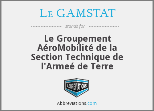 What does LE GAMSTAT stand for?