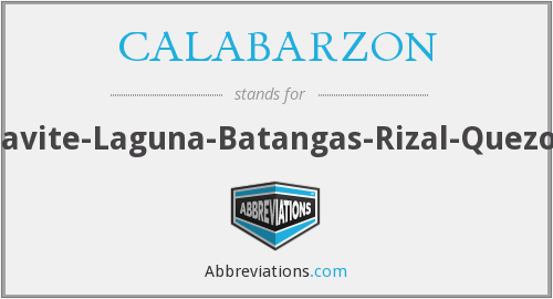 What does CALABARZON stand for?