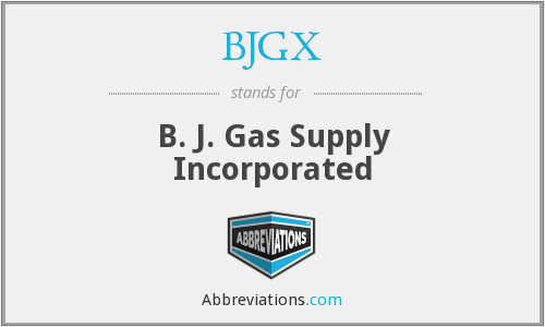 What does BJGX stand for?