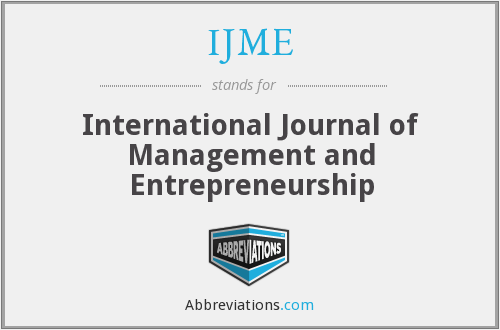 What does IJME stand for?