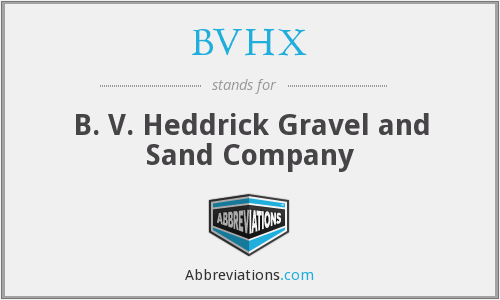 What does BVHX stand for?