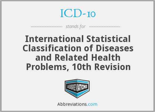 What does ICD-10 stand for?