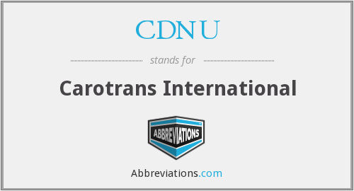 What does CDNU stand for?