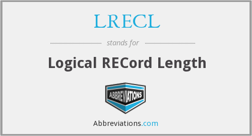 What does LRECL stand for?