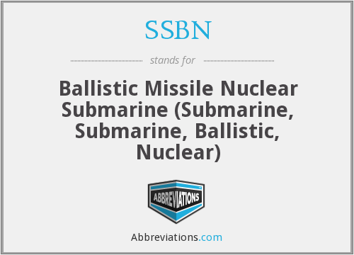 What does SSBN stand for?