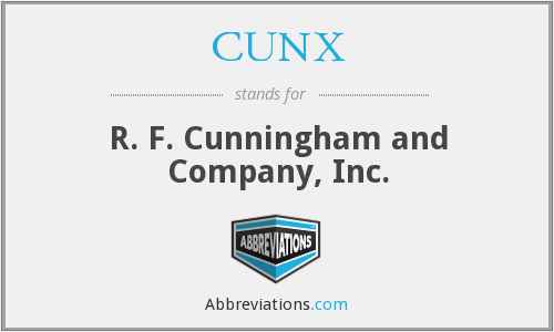 What does CUNX stand for?