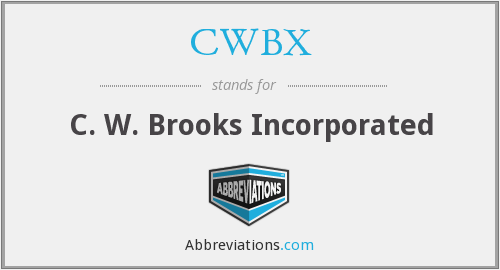 What does CWBX stand for?