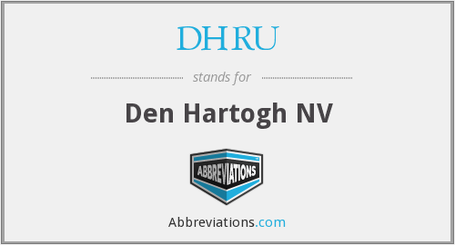 What does DHRU stand for?