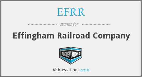 What does EFRR stand for?