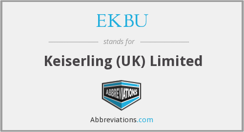 What does EKBU stand for?