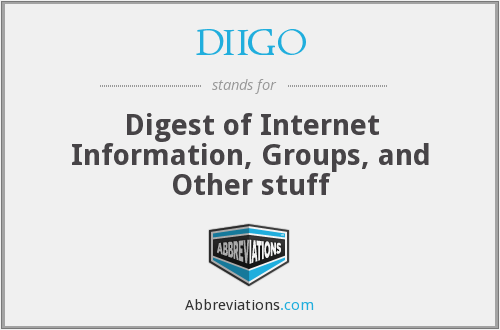 What does DIIGO stand for?