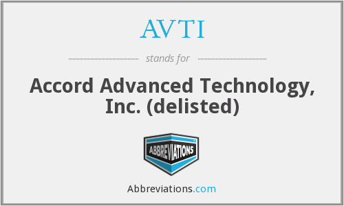 What does AVTI stand for?