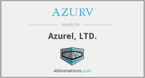 What does AZURV stand for?