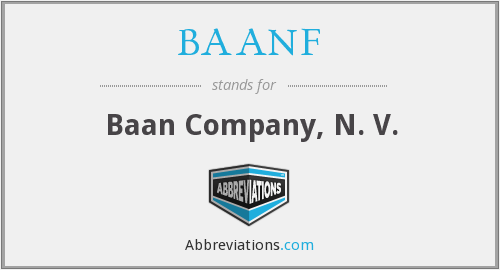 What does BAANF stand for?