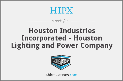 What does HIPX stand for?