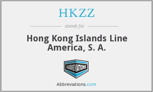 What does HKZZ stand for?
