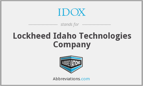 What does IDOX stand for?