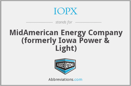 What does IOPX stand for?